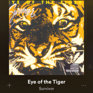 Eye of the tiger, chanson préférée du runner.